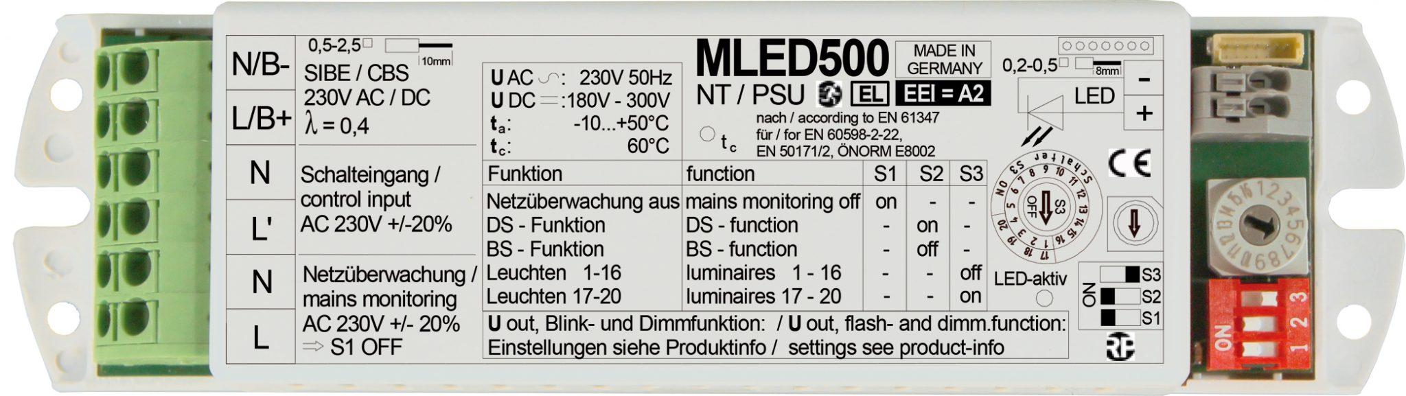 Schaltnetzteil - MLED 500